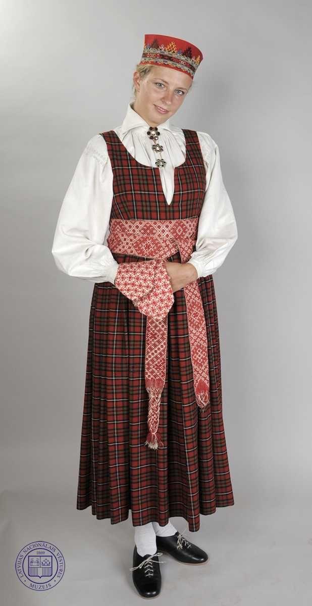 Lielvārde   Vidzemes tautas tērpi   Folk clothing ...