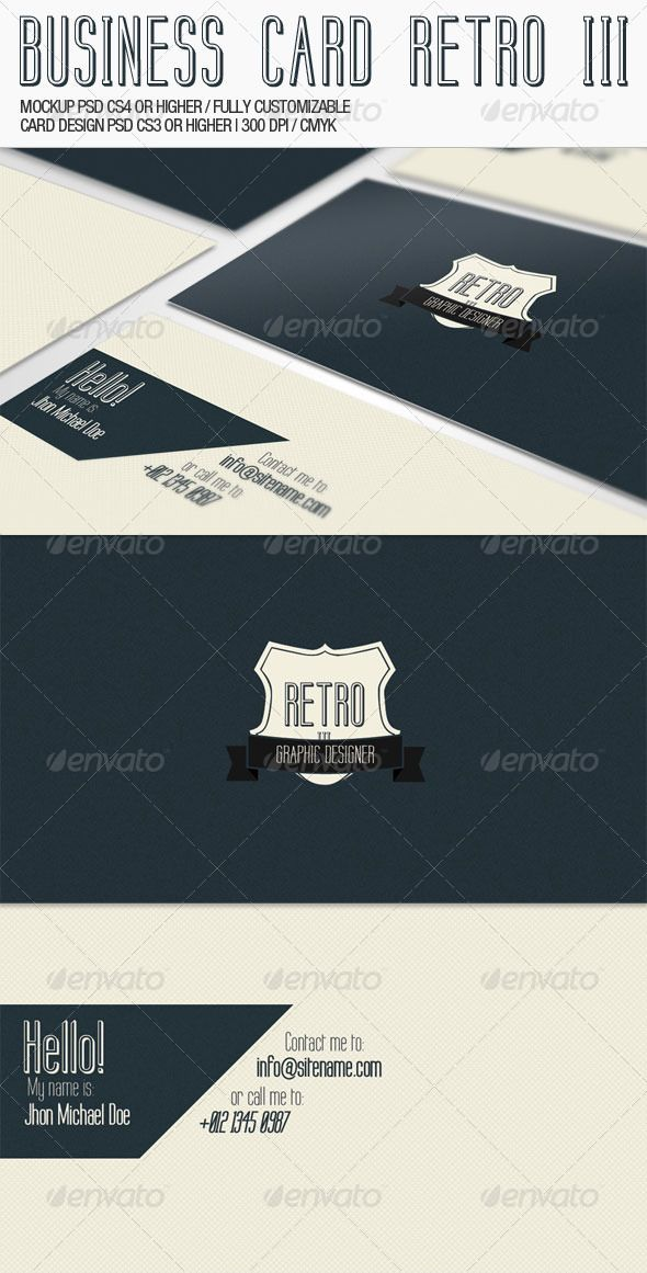 The 103 best print templates images on pinterest print templates business card retro iii reheart Images
