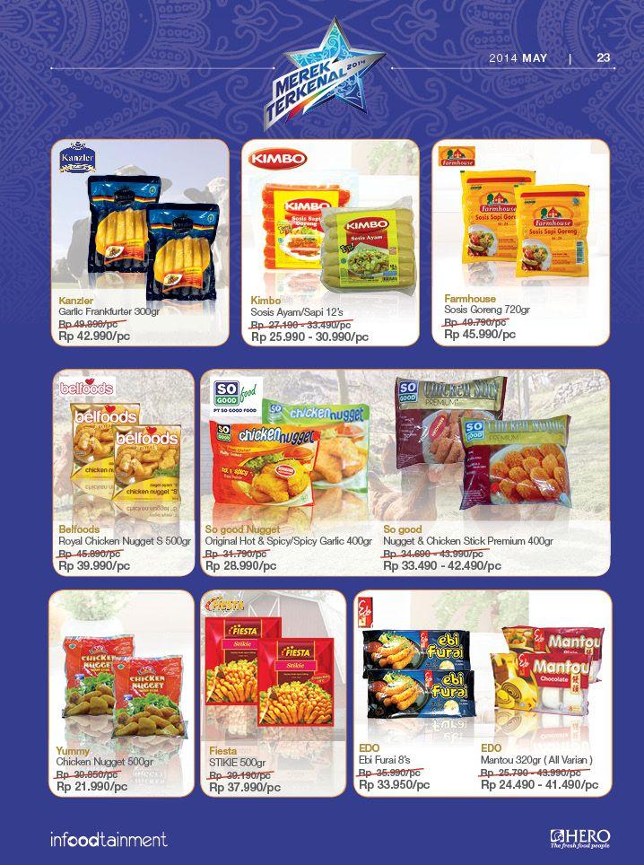 Fresh People, dapatkan berbagai produk Frozen Delicacy favorit Anda dengan harga terjangkau hanya di Hero Supermarket