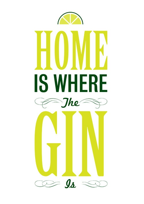 A3 Gin Print by vintageprincessshop on Etsy, £12.00