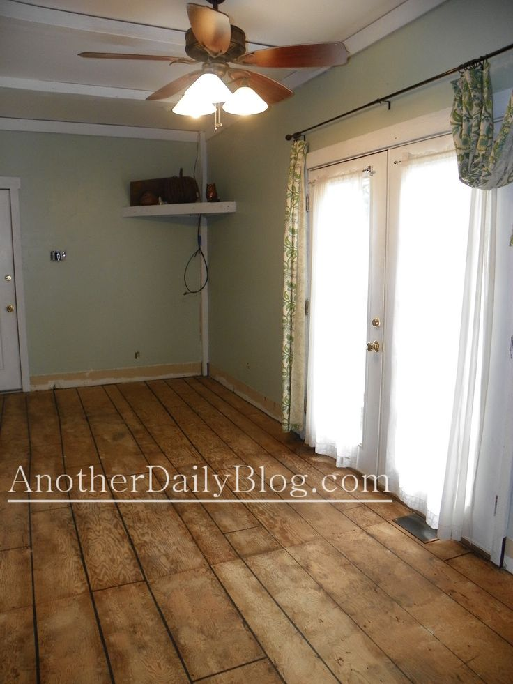 Another Daily Blog: DIY How to Make Plywood Subfloor Look Like Wide Plank Hardwood Flooring