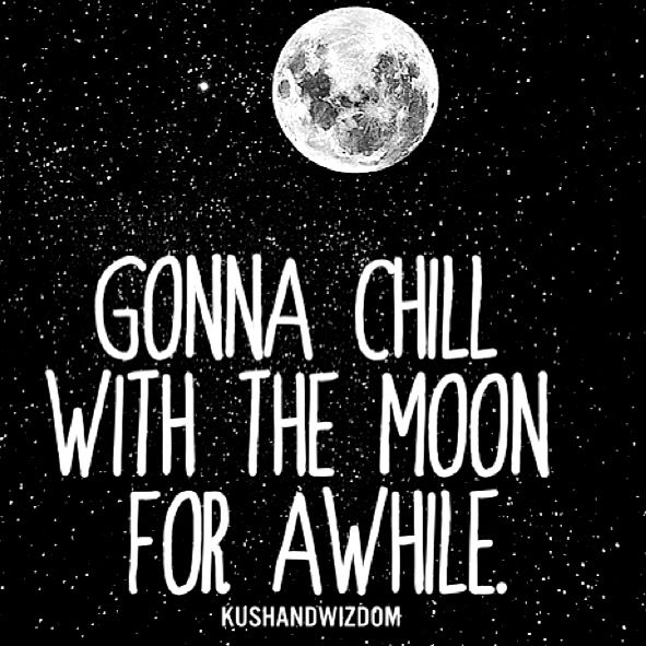 Sleep tight, I'm gonna chill with the moon for a while.