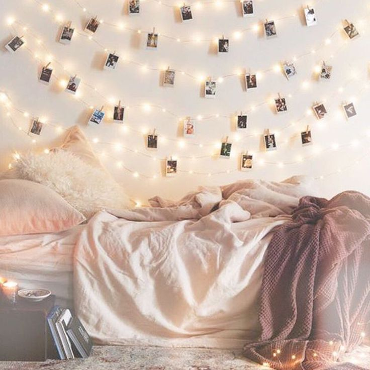 Cosy bed with lights