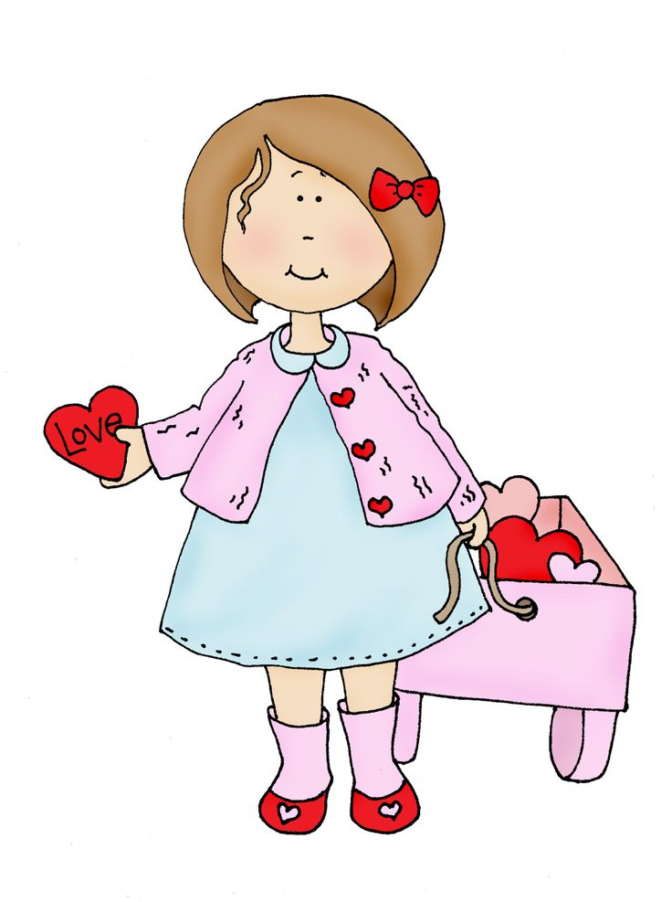 Free Dearie Dolls Digi Stamps: Wagon Full of Hearts