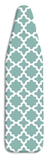 Whitmor-Ironing-Board-Cover-amp-Pad-15-034-x-54-034-Concord-Turquoise