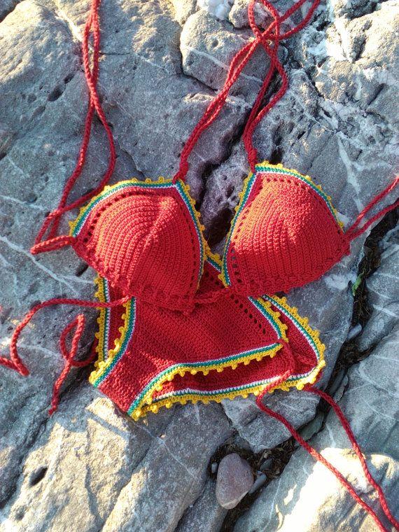 crochet bikini Kerry-bikini Crochet Vintage par GoodMoodCreations