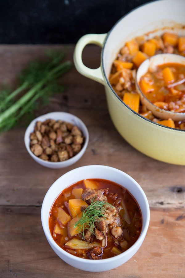 A new favorite- Chickpea & Butternut Squash Stew   [Best ...