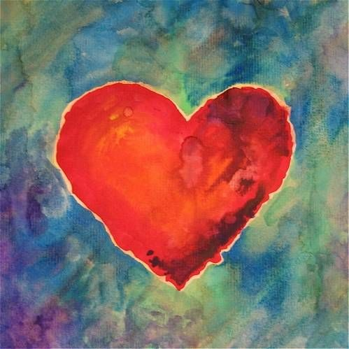 Valentine watercolor painting project childrens for Watercolor projects