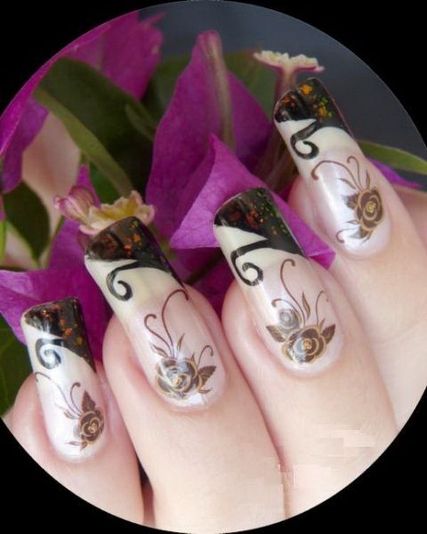 255 best nail art images on pinterest make up french nail party french nail designs for christmas and new prinsesfo Image collections