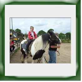 Enjoy a horse ride by lead rein on 'Bob' who will not be entering the Grand National anytime soon!