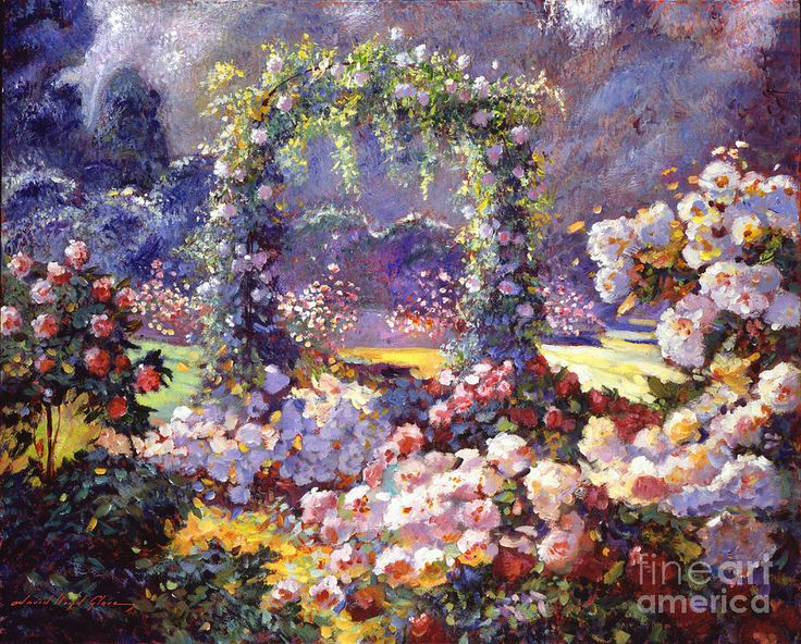 Fantasy Garden Delights Gardens, Beautiful and Art paintings