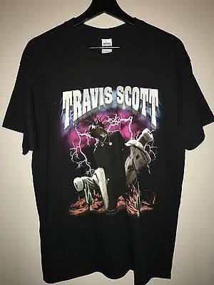 2016 Tour Travis Scott Fall Madness Concert T-sh Black T Shirt Usa