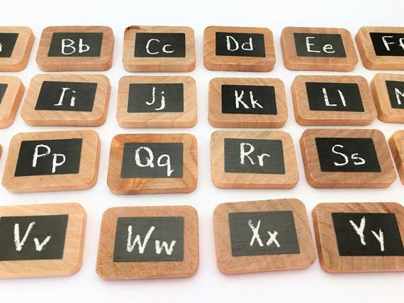 Lettera di legno piastrelle / lettera di riconoscimento