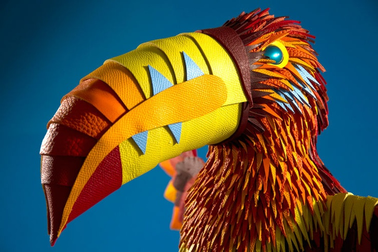 See A Jungle's Worth of Gorgeous Creatures Made From Hermès Scraps