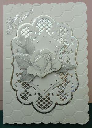 Wedding anniversary card by: craftypam