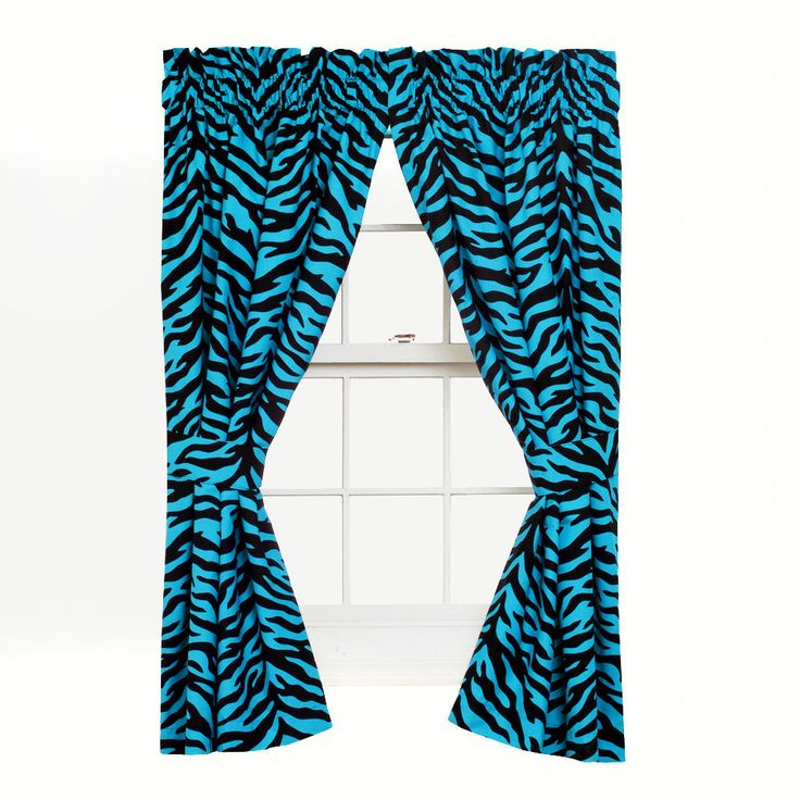 Zebra Curtain Panels