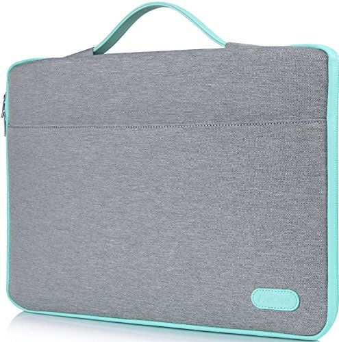 "ProCase 14 - 15.6 Inch Laptop Sleeve Case Protective Bag for 15"" MacBook Pro/ Pro Retina Ultrabook Notebook Carrying Case Handbag for 14"" 15"" Lenovo Dell Toshiba HP Chromebook ASUS Acer (Light Grey)"