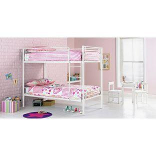Buy Samuel White Shorty Bunk Bed with Elliott Mattress at Argos.co.uk - Your Online Shop for Children's beds, Children's beds.