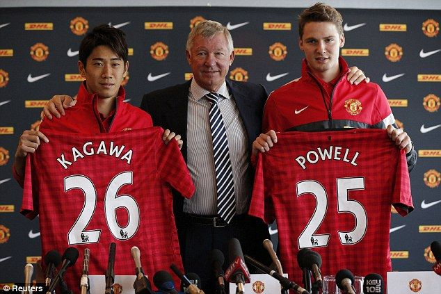 Welcome to Old Trafford Shinji Kagawa and Nick Powell :)
