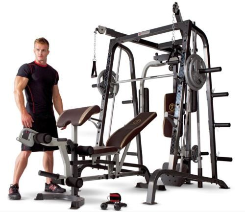 Home Gym Equipment System Marcy Bench Smith Machine Set Weight Fitness Workout #ad