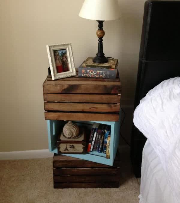 Furniture, Creative Nightstand Ideas How To Build Your Own Unique Nightstands Pallet Box Simple Design Glamorous Unique Bedroom Nightstands Unique Nightstands Ideas Unique Ideas For Nightstands Unique: There Are Times When We Could Use Some Good Unique Nightstand Ideas