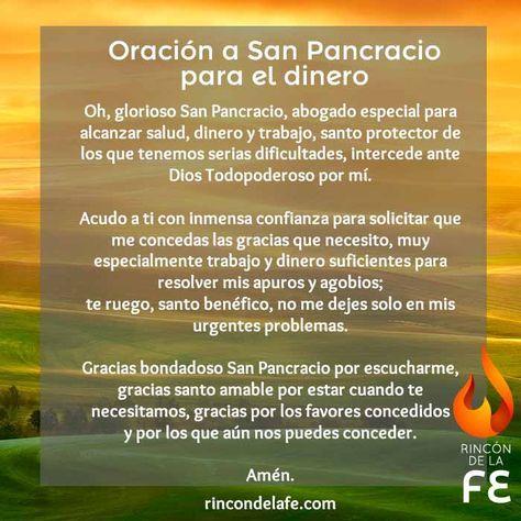 Oración a San Pancracio para el dinero | San Pancracio