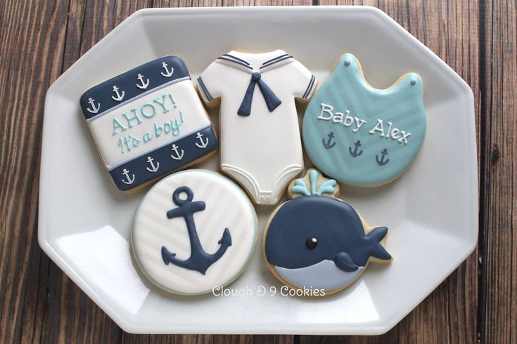 Nautical baby shower cookies- I really tried for... - Clough'D 9 Cookies & Sweets
