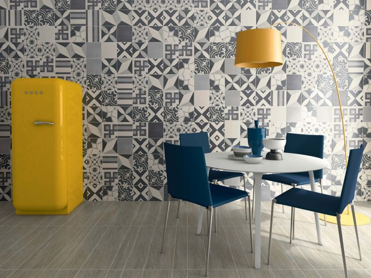 Carrelage imitation anciens carreaux de ciment décor formes géométriques 60x60 cm | Carreaux ...
