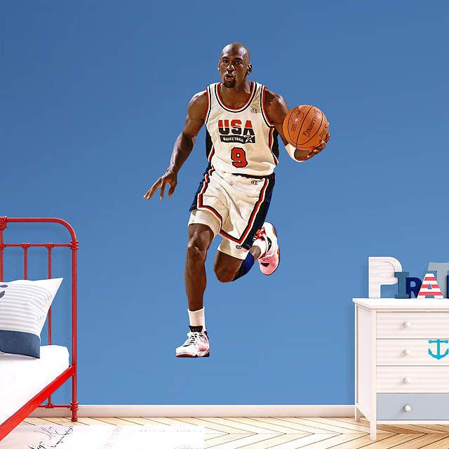 USA Basketball fan? Prove it! Put your passion on display with a giant Michael Jordan: 1992 Dream Team Fathead wall decal!