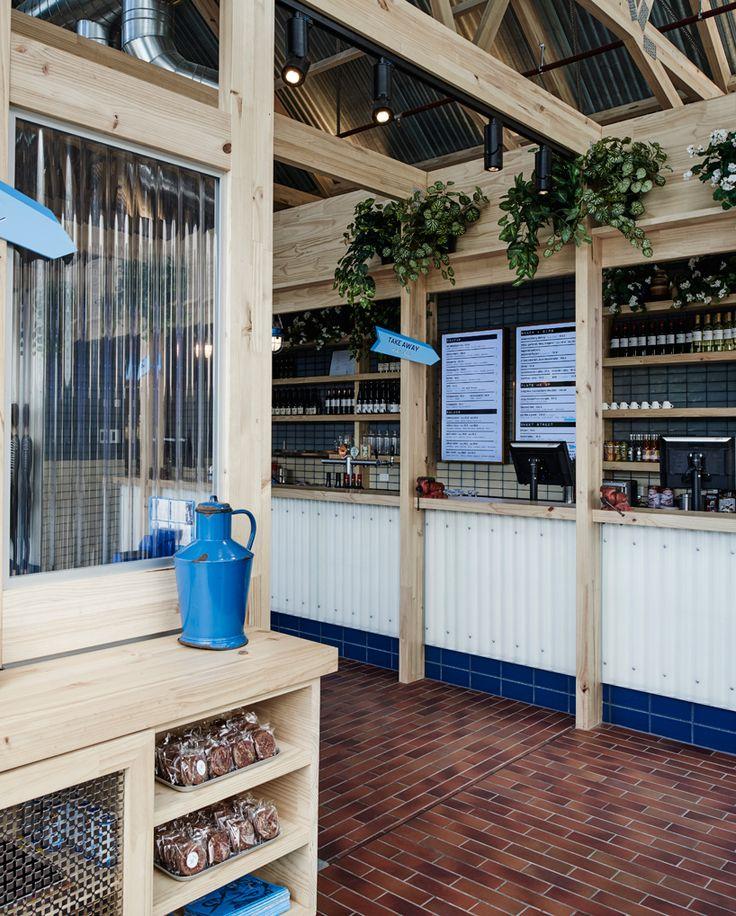 Exposed Timber Frame Highlights Interior Of Techns Souvlaki Restaurant