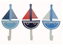 Zeilboot kledinghaakjes 3 stuks