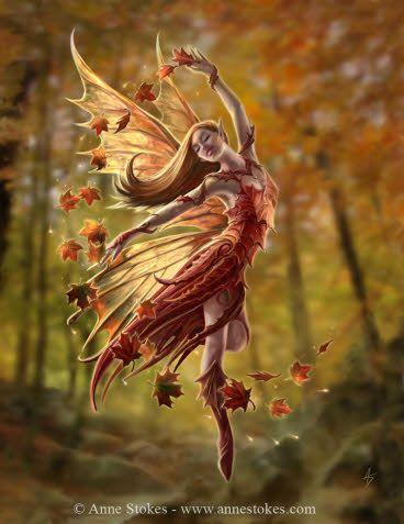 Autumn Fairy - Anne Stokes