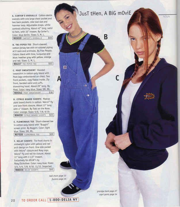 These overalls. | 23 Of The Most '90s Fashions From The Spring '97 Delia's Catalog