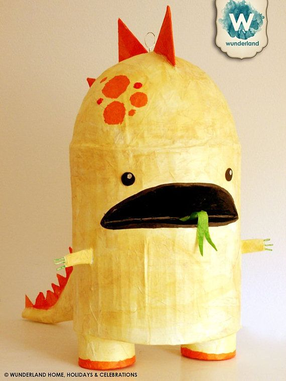 Dragon Monster Pinata MADE TO ORDER by wunderlandhome on Etsy, $65.00