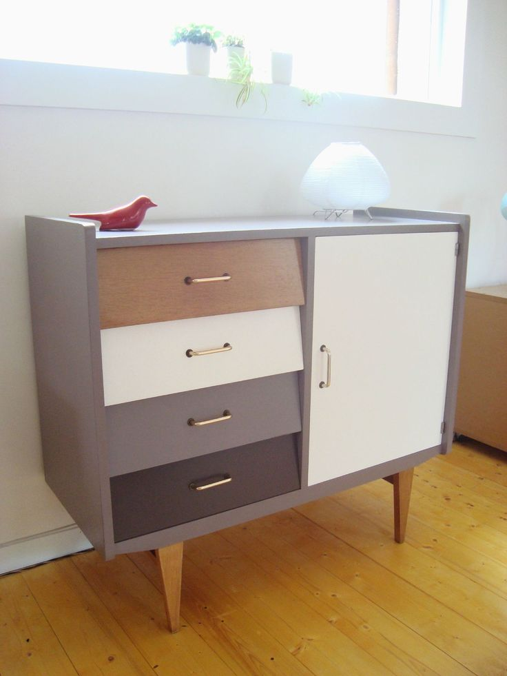 Commode années 50 style scandinave