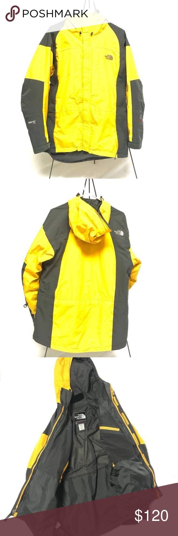 THE NORTH FACE Summit Series Gore Tex Jacket 100% Authentic   Beautiful jacket, unsure of the year   Yellow / grey   Nice condition, just general wear The North Face Jackets & Coats Raincoats