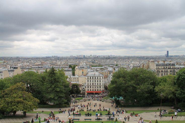 Widok na Paryż ze wzgórza Montmartre - przed Bazyliką Sacre Coeur