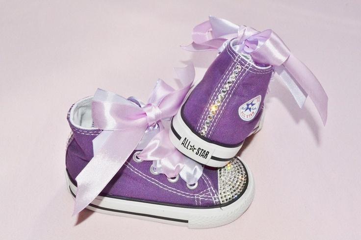 Custom Purple Crystal Converse Chuck Taylor All Star High