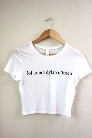 lol ur not dylan o'brien Graphic Crop Top