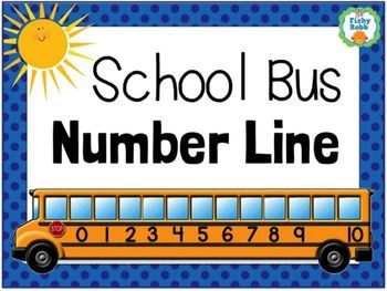 School Bus Number Line Poster - Includes pieces up to number 20.