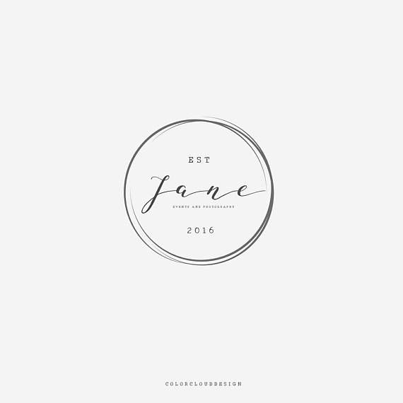 Round logo design minimalist logo feminime premade logo photography watermark logo boutique logo modern logo simple logo branding logo