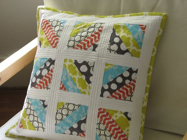 Quilted pillow by Erin Daniels