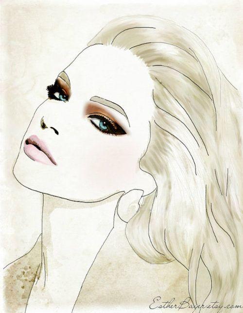 drawing fashion girl makeup beauty pinterest