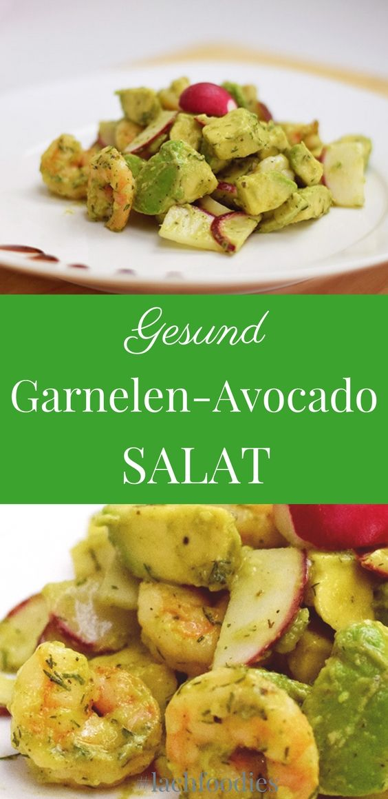 Garnelen-Avocado-Salat. .... low carb, lchf, lc, ohne Kohlenhydrate, less carbs, abnehmen, weightloss, salad recipe, salat repeat, gesund essen, healthy, healthy living, gesunde Ernährung, salat Rezepte, Feldsalat, salad recipes, saladsunday, gesunde Reze (Salad Recipes)