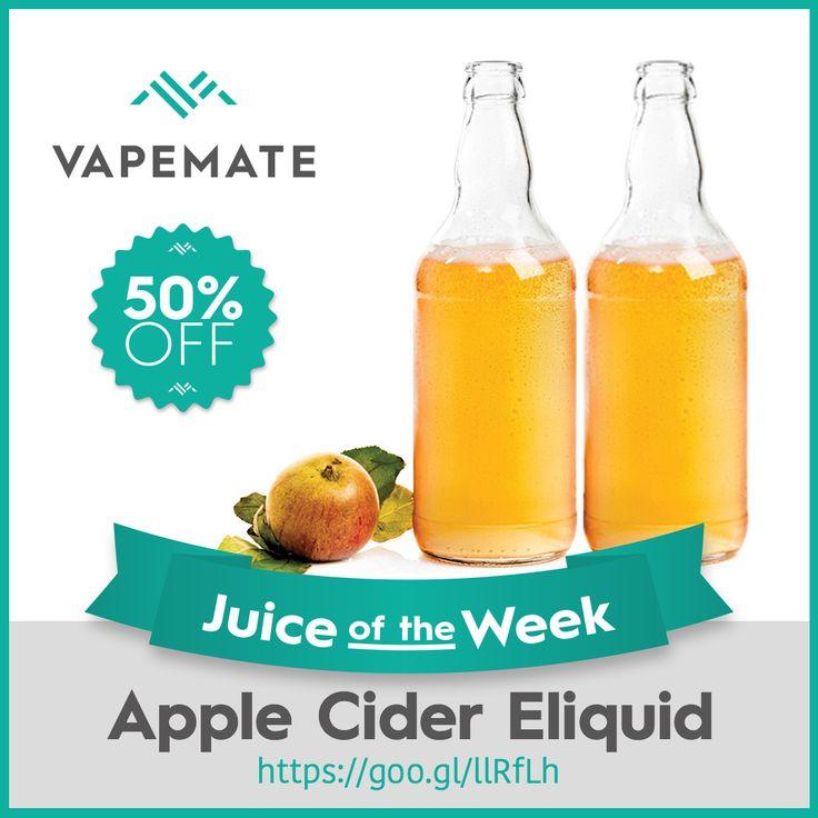 Juice of the Week is Apple Cider #Eliquid! 50% off all week, order today #ejuice #ukvape https://www.vapemate.co.uk/eliquid/apple-cider-eliquid.html