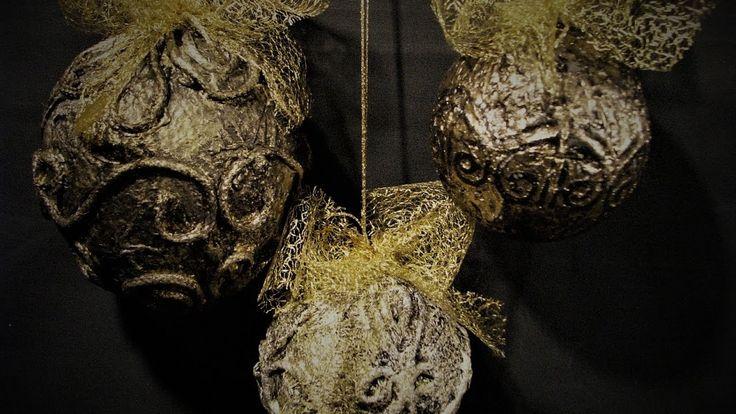 Jak zrobić bombki o wyglądzie starego złota -Pomysły plastyczne dla każdego