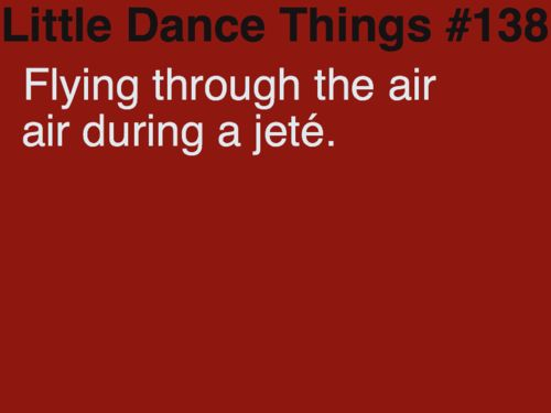 one of my favorite feelings. Little Dance Things