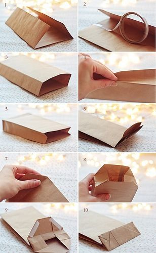paper bag how to; super useful if you run out of gift bags!