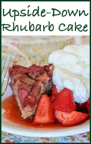 and   Rhubarb air buy Upside Rhubarb Desserts Cake    Recipe Italy Cake Down