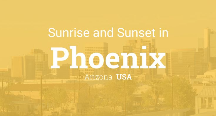 Sunrise and sunset times in Phoenix, December 2017
